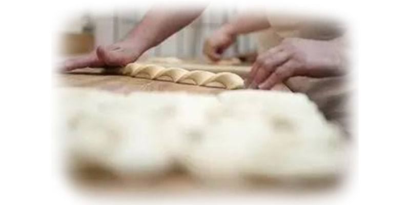 Turn the dough