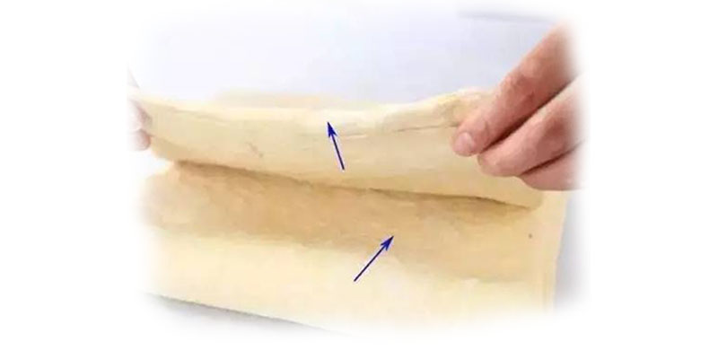 Folded dough