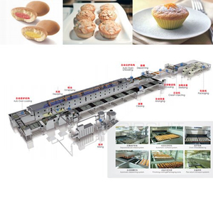 Full-automatic custard/cup cake production line